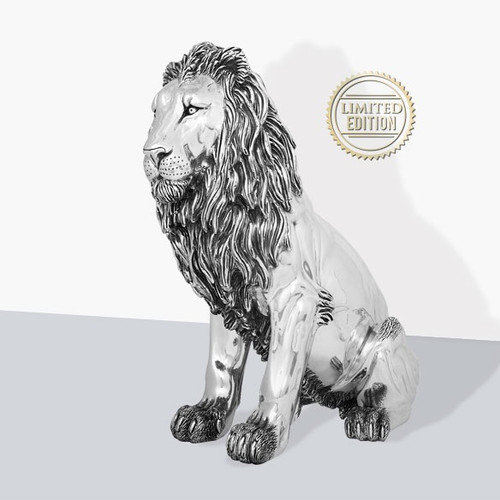 Lion Silver Plated Heirloom Sculpture | 7514