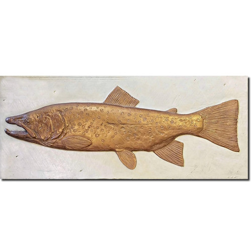 Brown Trout Bas Relief Ltd Edition Wall Art | Rod Zullo