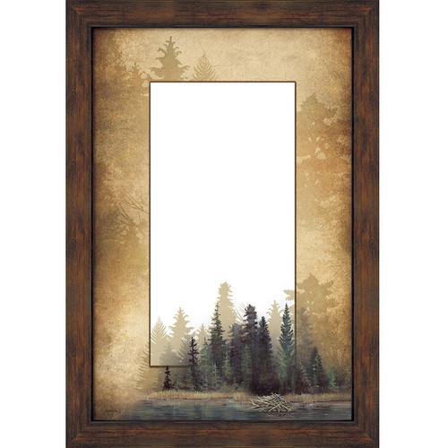 Misty Forest Decorative Mirror
