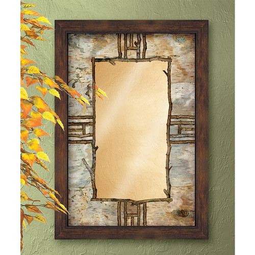 Hardwood Forest Decorative Mirror
