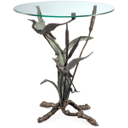 Crane Pair in Flight End Table | 33844