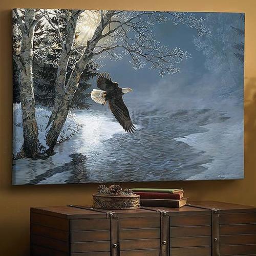 "Bald Eagle Canvas Wall Art ""Awakening"""