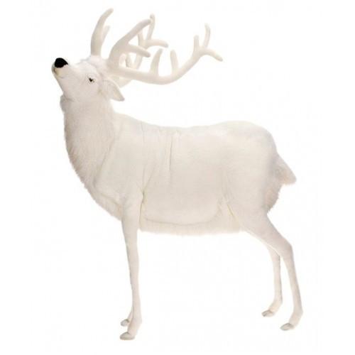 white reindeer giant stuffed animal