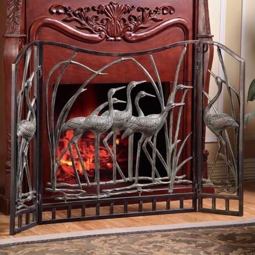 Crane Fireplace Screen | 33791