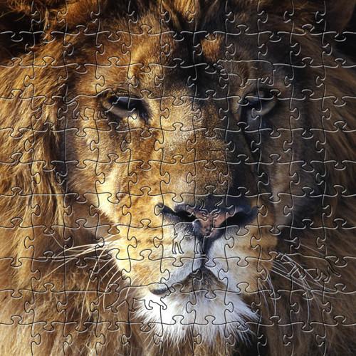 Lion Artisanal Wooden Jigsaw Puzzle | Zen Art & Design | ZADLION