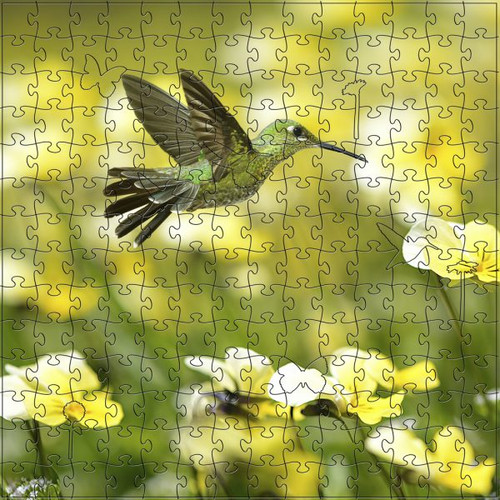 Summer Hummingbird Wooden Jigsaw Puzzle