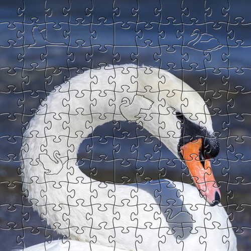 White Swan Wooden Jigsaw Puzzle