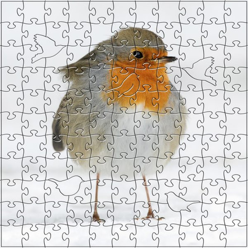 Winter Robin Wooden Jigsaw Puzzle