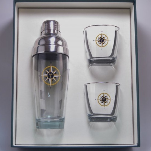 Compass Rose Cocktail Shaker Set