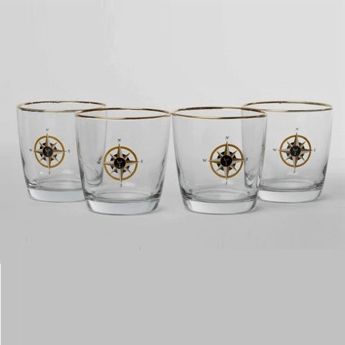 Compass Rose Cocktail Glass Set