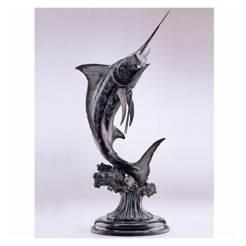 Marlin Brass and Marble Sculpture | 30814