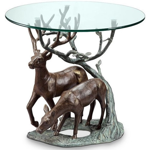 Deer Duo End Table | 34125