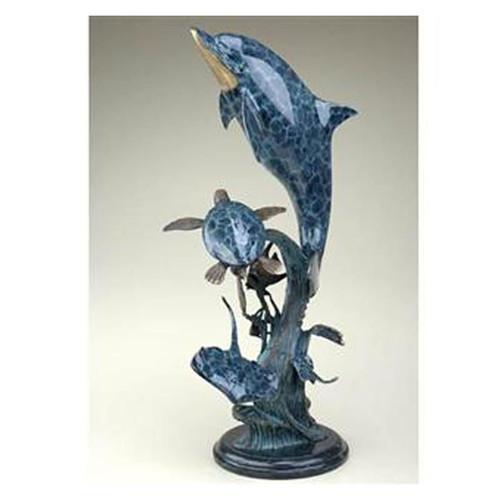dolphin coffee table | sea world | brass | marble | decor | spi