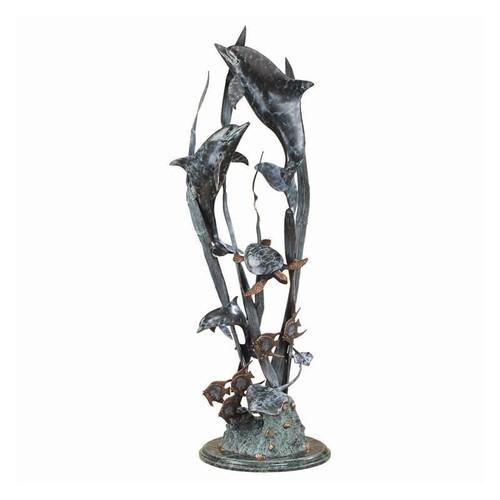 "Dolphin ""Seaworld Seascape"" Sculpture   30037"