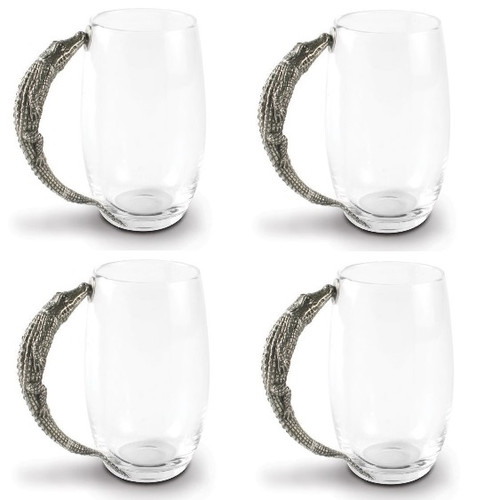 Alligator Beer Mug Set of 4