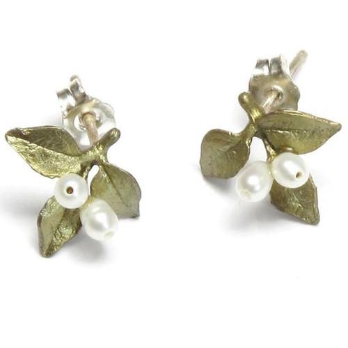 Myrtle Pierced Earrings | Nature Jewelry