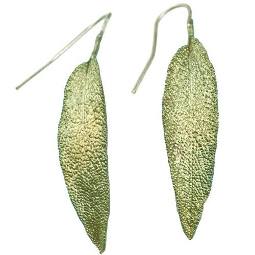 Sage Leaf Earrings | Nature Jewelry