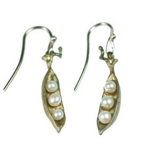 Petite Peapod Wire Earrings | Nature Jewelry