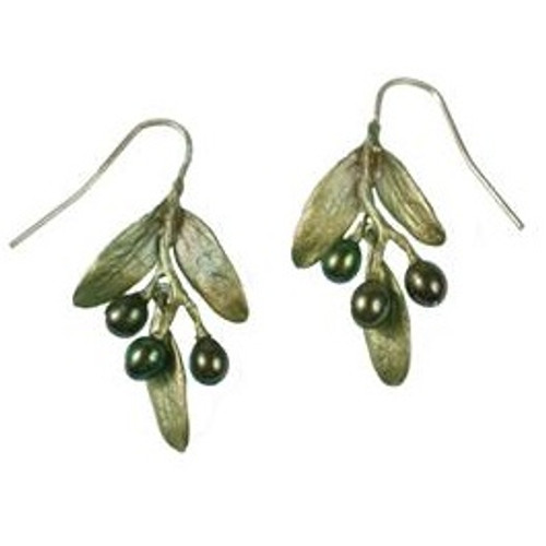 Olive Wire Earrings | Nature Jewelry
