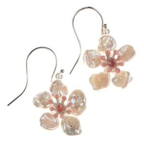 Cherry Blossom Wire Earrings | Nature Jewelry
