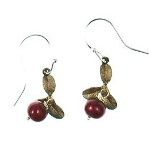 Cranberry Wire Drop Earrings | Nature Jewelry