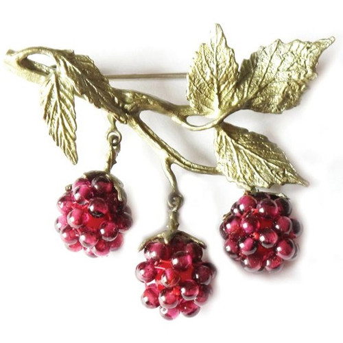 Raspberry Pin | Nature Jewelry