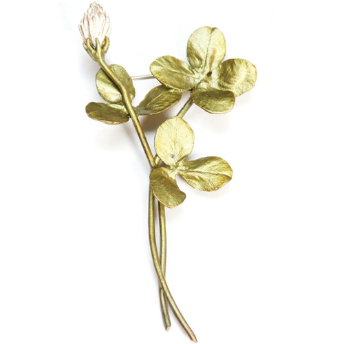 Clover Spray Pin | Nature Jewelry