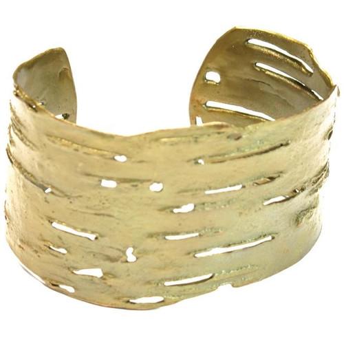 Birch Bark Bronze Cuff Bracelet | Nature Jewelry
