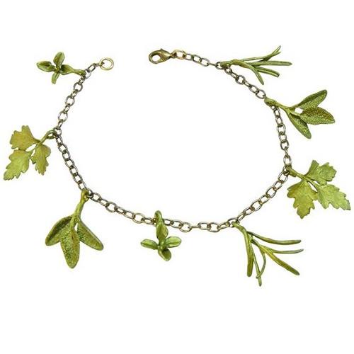 Petite Herb Charm Bracelet | Nature Jewelry