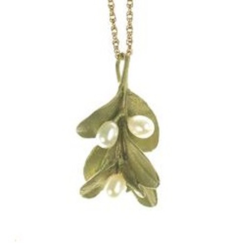 Boxwood Pearl Pendant Necklace | Nature Jewelry