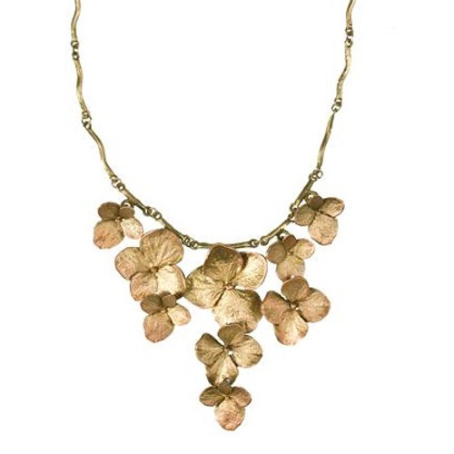 Hydrangea Contour Necklace | Nature Jewelry