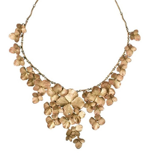Hydrangea Petals Necklace | Nature Jewelry