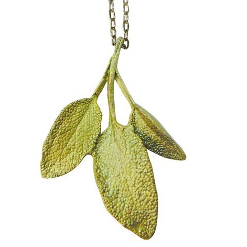 Sage Pendant Necklace Petite Herb | Nature Jewelry