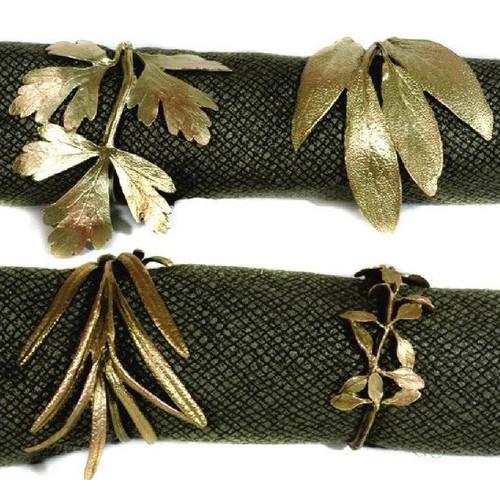 Herb Assortment Napkin Rings Set of 4