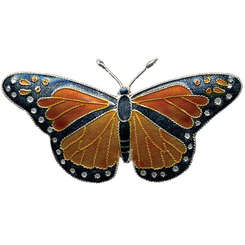 Monarch Butterfly Cloisonne Pin | Nature Jewelry