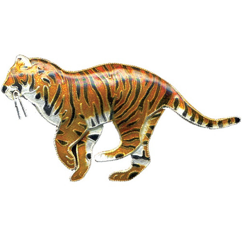 Tiger Cloisonne Pin Bamboo   Nature Jewelry