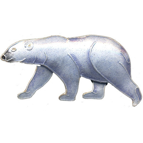 Polar Bear Cloisonne Pin | Nature Jewelry