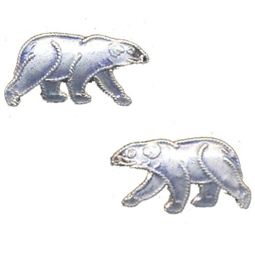 Polar Bear Cloisonne Post Earrings | Nature Jewelry