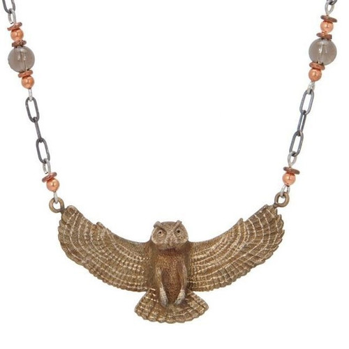 Great Horned Owl Pendant Necklace | Nature Jewelry