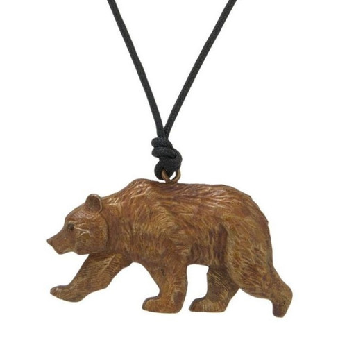 Grizzly Bear Pendant Necklace | Nature Jewelry