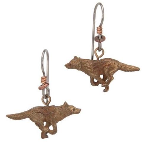 Wolf Running Earrings | Nature Jewelry