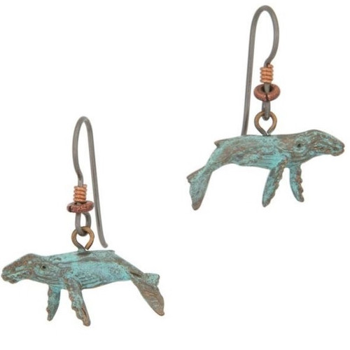 Humpback Whale Earrings | Nature Jewelry