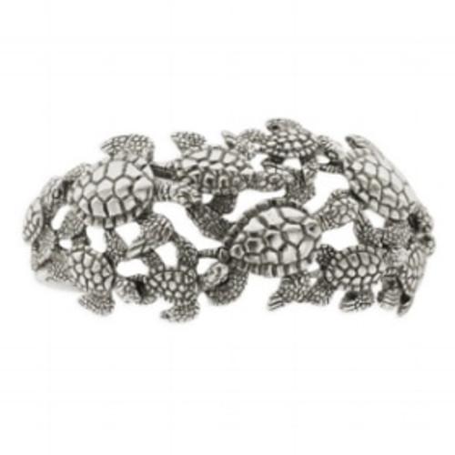 Sea Turtle Sterling Silver Cuff Bracelet | Nature Jewelry