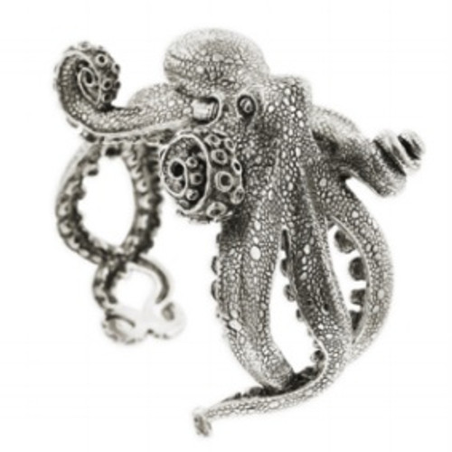 Octopus Sterling Silver Bracelet | Nature Jewelry