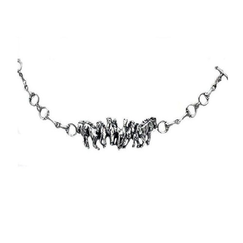 Running Horse Herd Sterling Silver Bracelet | Nature Jewelry