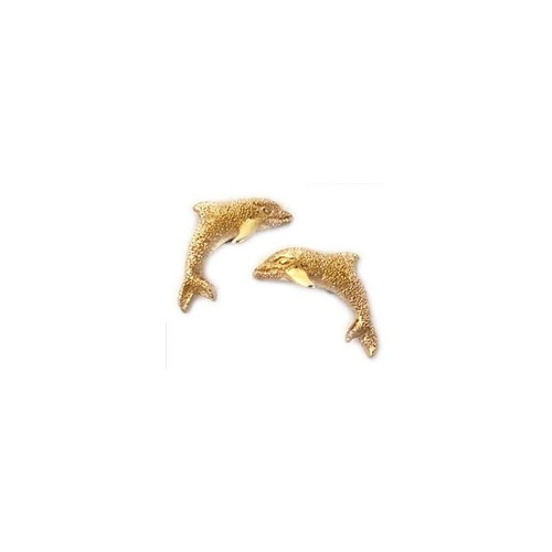 Dolphin 14K Gold Earrings | Nature Jewelry