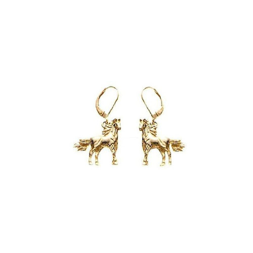 Horse 14K Gold Earrings | Nature Jewelry