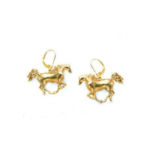 Cantering Arabian Horse 14K Gold Wire Earrings | Nature Jewelry