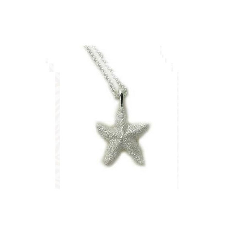 Starfish Pendant Sterling Silver Necklace | Nature Jewelry