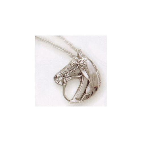 Saddlebred Horse Pendant Sterling Silver Necklace | Nature Jewelry